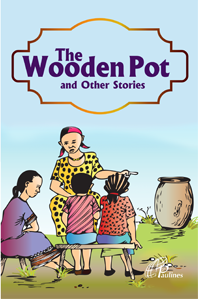 the wooden pot